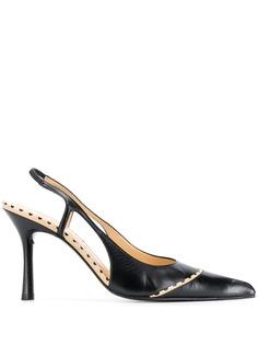 Chanel Pre-Owned туфли 2000-х годов с ремешком на пятке