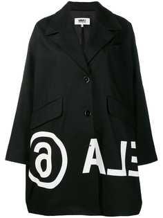 MM6 Maison Margiela пальто с принтом