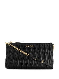 Miu Miu фактурная сумка на плечо