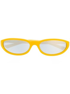 Balenciaga Eyewear солнцезащитные очки в овальной оправе