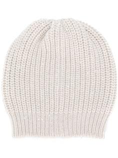 Brunello Cucinelli вязаная шапка бини