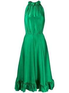 MSGM расклешенное платье миди без рукавов