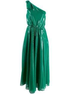 MSGM платье с открытыми плечами и пайетками