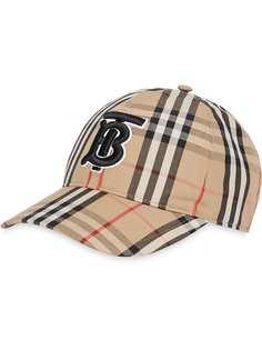 Burberry бейсбольная кепка в клетку Vintage Check с монограммой