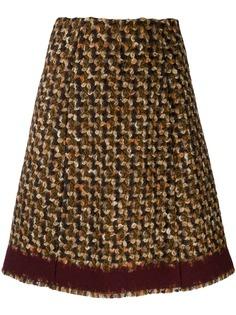 Prada Pre-Owned юбка А-силуэта 2000-х годов в ломаную клетку
