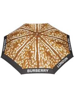 Burberry зонт с анималистичным принтом