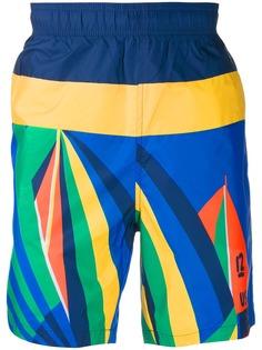 Polo Ralph Lauren шорты-бермуды с принтом Sailboat