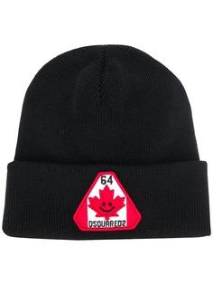 Dsquared2 шапка бини с нашивкой-логотипом