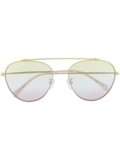 Zadig&Voltaire солнцезащитные очки-авиаторы в круглой оправе
