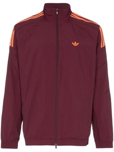 Adidas куртка-бомбер с тремя полосками