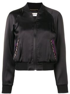 Saint Laurent куртка-бомбер на молнии