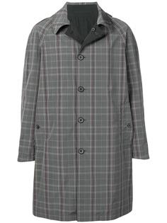 LANVIN однобортное пальто в клетку