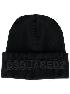Dsquared2 шапка бини с вышитым логотипом