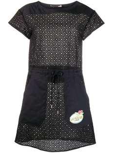 Love Moschino платье с перфорацией