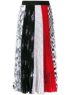 MSGM плиссированная юбка с принтом