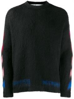 Off-White свитер Diagonal с принтом