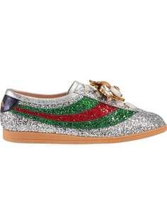 Gucci кроссовки Falacer с блестками