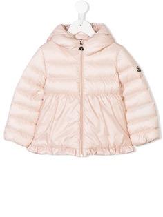 Moncler Kids куртка с капюшоном и сборками