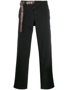 Off-White брюки чинос с поясом