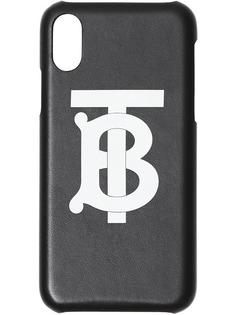 Burberry чехол для iPhone X/XS с монограммой