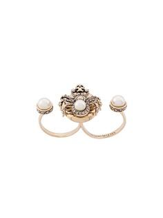 Alexander McQueen двойное декорированное кольцо