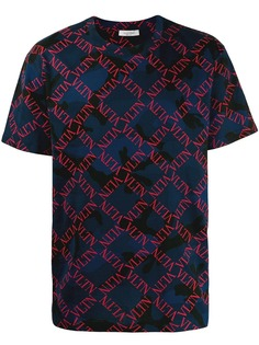 Valentino футболка в клетку с логотипом VLTN