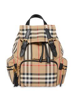 Burberry маленький рюкзак в клетку Vintage Check и полоску Icon Stripe