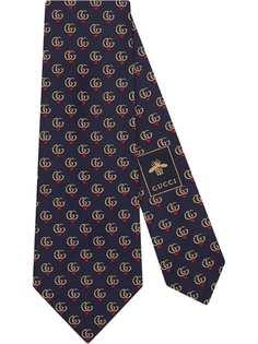 Gucci галстук с узором GG