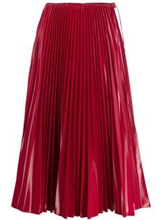 Fendi плиссированная юбка миди