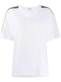 Fendi футболка оверсайз с логотипом