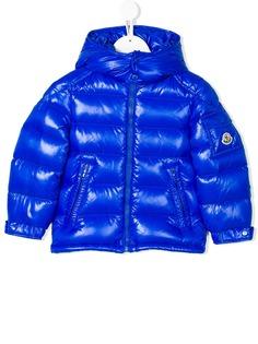 Moncler Kids дутая куртка с капюшоном
