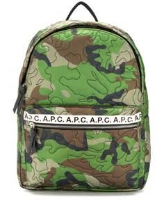 A.P.C. рюкзак с камуфляжным принтом