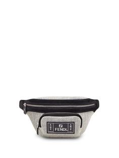 Fendi поясная сумка с перфорацией и логотипом FF
