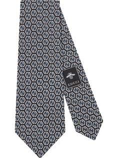 Gucci галстук с узором и логотипом GG