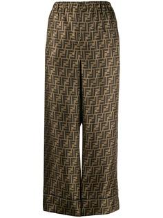 Fendi укороченные брюки палаццо