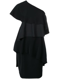 Lanvin платье на одно плечо с оборками