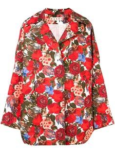 Marni пальто свободного кроя с цветочным принтом