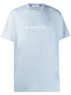Givenchy футболка с контрастным логотипом