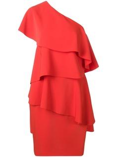 Lanvin асимметричное платье с оборками