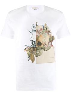 Alexander McQueen футболка с цветочным принтом Skull