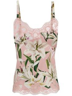 Dolce & Gabbana топ на бретелях с цветочным принтом