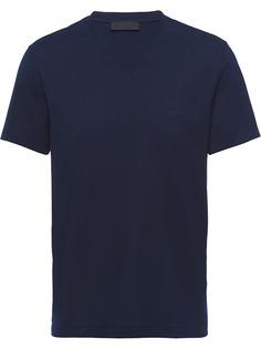 Prada эластичная футболка с логотипом