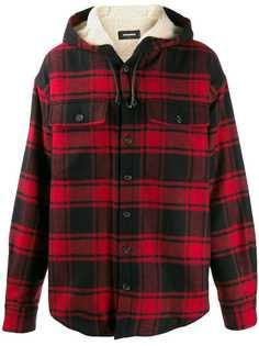 Dsquared2 клетчатая куртка-рубашка с капюшоном