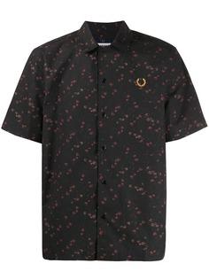 Fred Perry рубашка с цветочным принтом