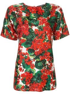 Dolce & Gabbana футболка с принтом Portofino