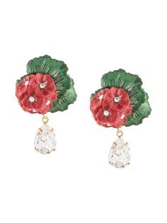 Dolce & Gabbana клипсы с цветочным декором и подвесками