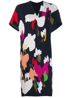Escada платье-трапеция с абстрактным принтом