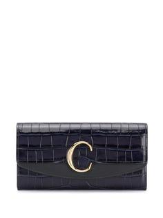 Chloé удлиненный кошелек с пряжкой