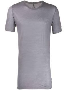 Rick Owens удлиненная полупрозрачная футболка