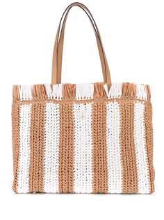 Kate Spade большая соломенная сумка-тоут в полоску